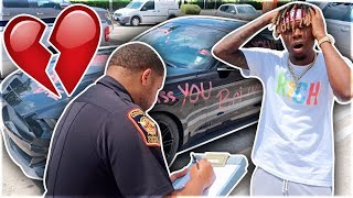 """""""MY EX DID THIS TO YOUR CAR"""" PRANK ON BOYFRIEND!!!"""