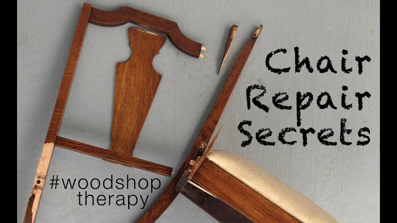 fixing wooden chairs swivel rocker recliner chair leather tools and tips to fix youtube