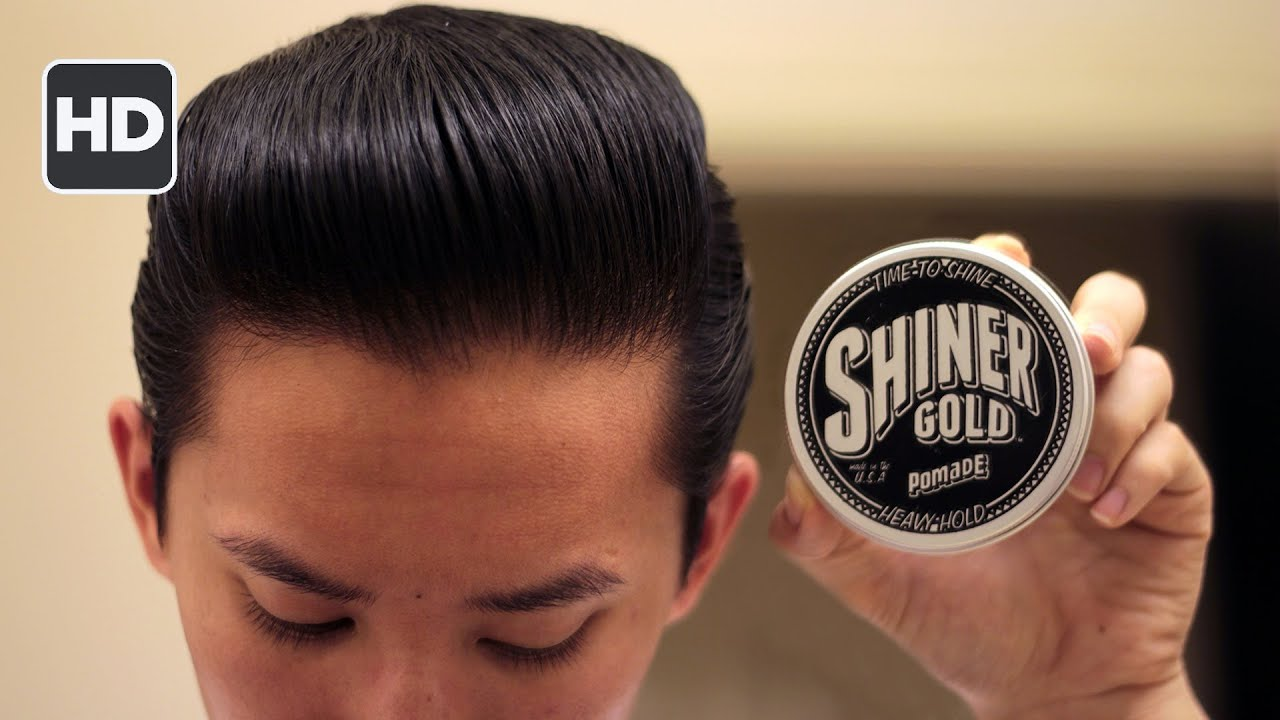 pomade hair style shiner gold pomade review the water based pomade that 8976