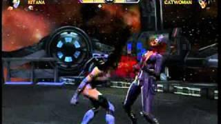 Katana vs. Cat Woman and Wonder Woman