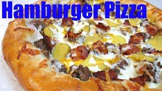 Hamburger Pizza - Bacon Cheeseburger Pizza Recipe - Poormansgourmet