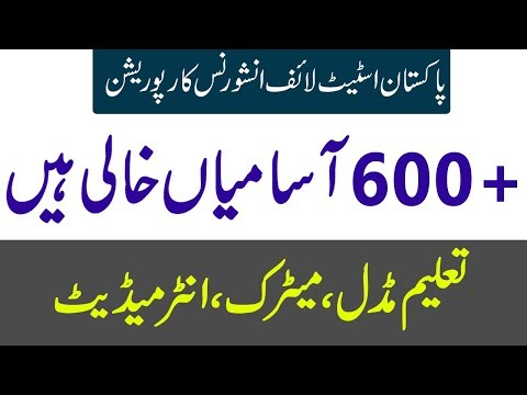 Jobs In Pakistan State Life Insurance Corporation Apply Online New PTS Jobs