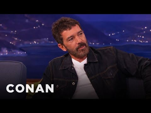 Antonio Banderas On Preparing To Play Picasso   CONAN on TBS