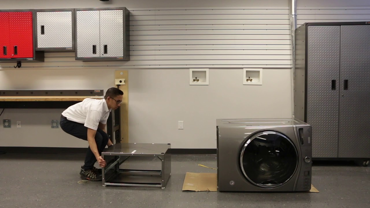 How To Install The Pedestal On Your Whirlpool Washing Machine Youtube