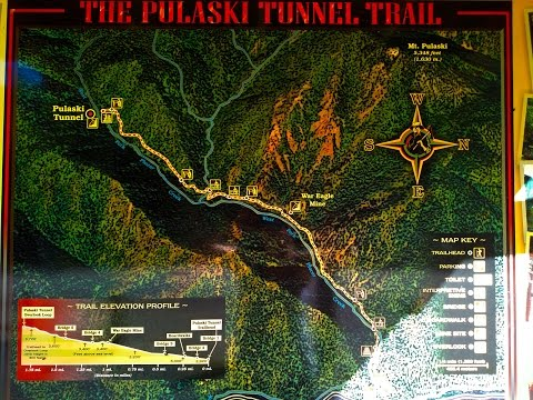 The Pulaski Tunnel Trail Near Wallace ID, A Forest Service Monument To The 1910 Fire