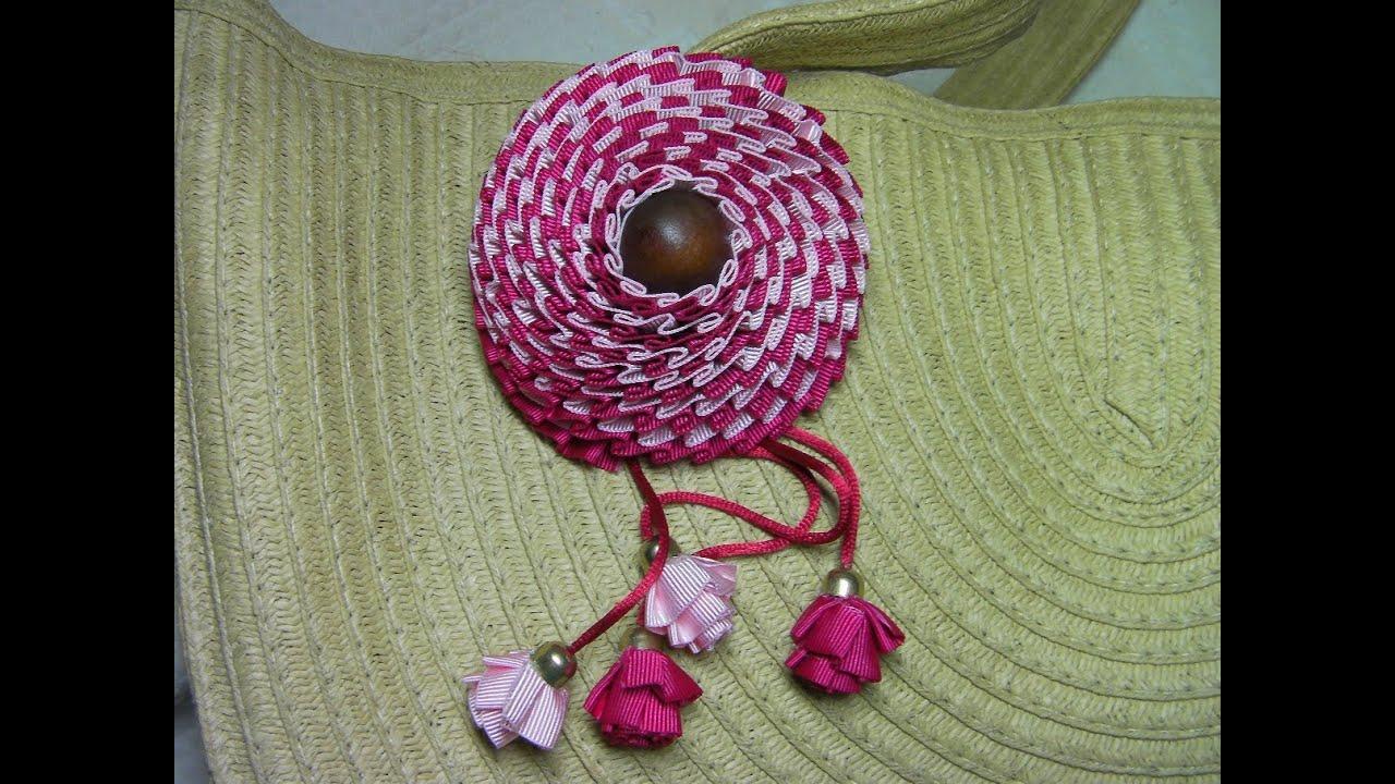 Diy flor de tela para bolso solapa o diadema youtube - Flores de telas hechas a mano ...