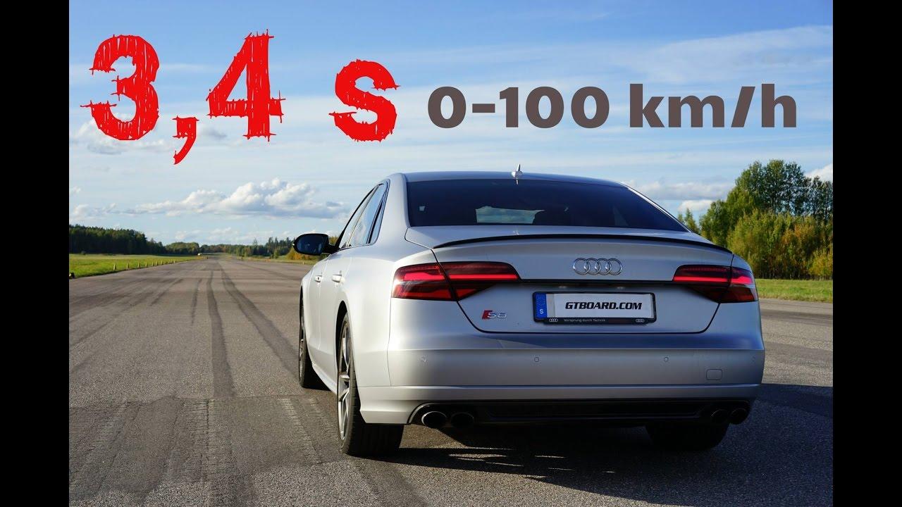 4k 3 4 s audi s8 plus 0 100 km h acceleration test gps. Black Bedroom Furniture Sets. Home Design Ideas