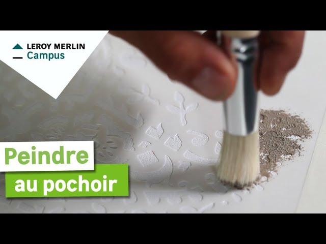 Comment Peindre Au Pochoir Leroy Merlin Youtube