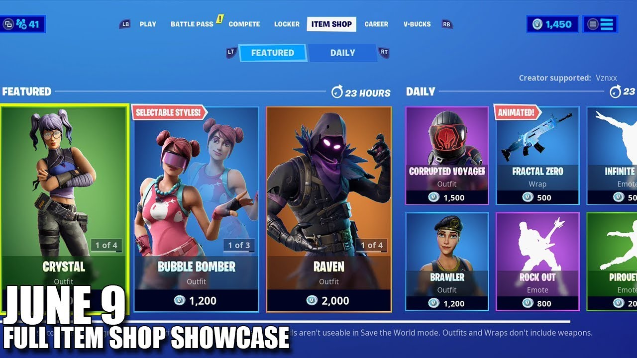 What's In The Store Fortnite Fortnite Item Shop June 9 2020 Fortnite Battle Royale Youtube