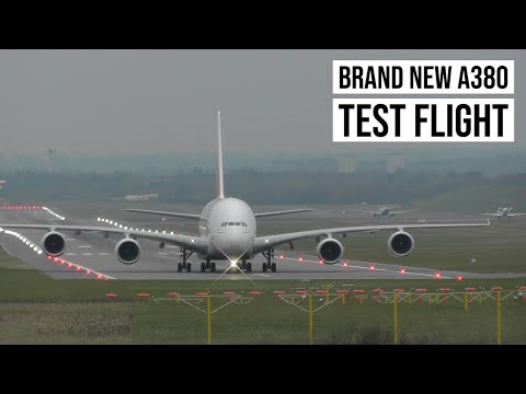 Brand New Emirates Airbus A380 F-WWSJ ✈ Landing at Birmingham Airport!