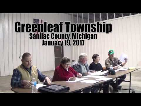 Greenleaf Township January 19, 2017