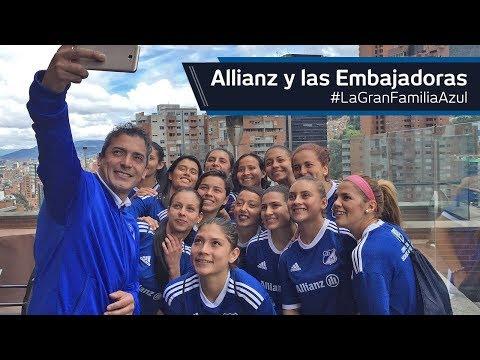 #LaGranFamiliaAzul   ¡Allianz y las Embajadoras!