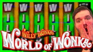 I TOOK A HUGE RISK... AND IT PAID OFF! Winning MASSIVELY on World of Wonka Slot Machine W/ SDGuy1234