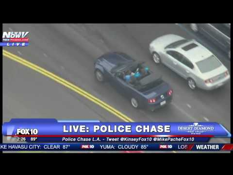 WATCH: The Most Bizarre Police Chase You Will Ever See (FNN)
