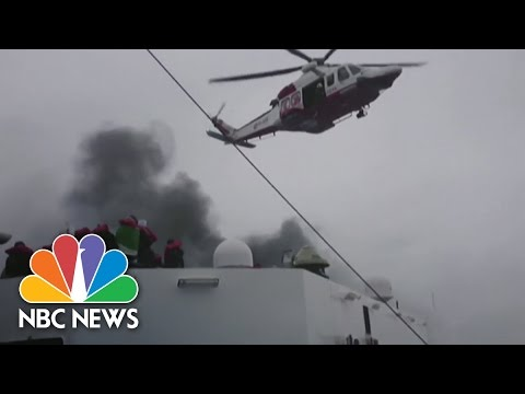 Raw: Burning Ferry Rescue | NBC News