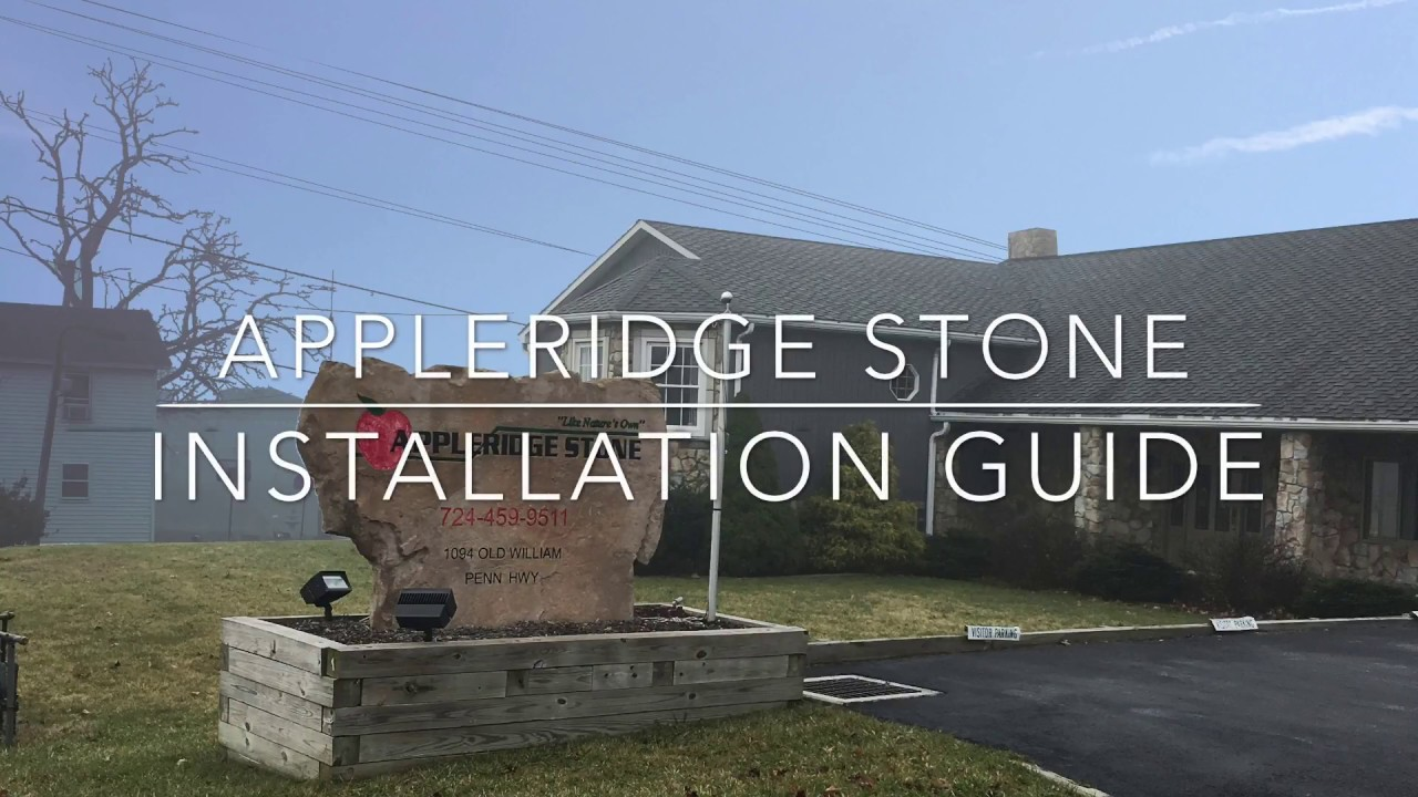 How to Install Appleridge Stone Veneer - YouTube