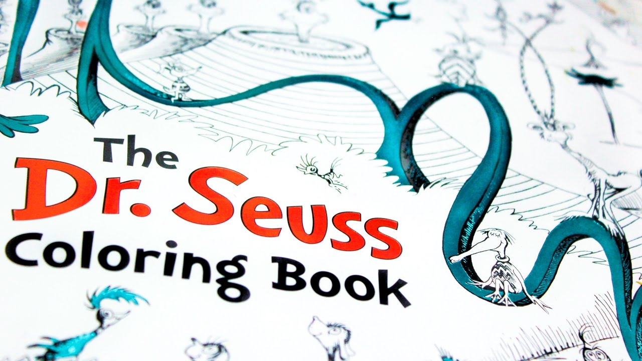 Dr. Seuss Adult Coloringbook | Flip Through - YouTube