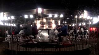 Los Angeles Haunted Hayride backwards skeleton carousel