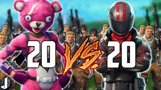 20 vs 20 Fortnite Battle Royale - Patch 3.2 Gameplay Madness!