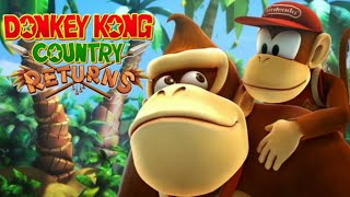 Donkey Kong Country Returns - Full Game Co-op Walkthrough (All Collectibles)