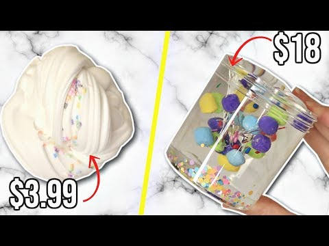 CHEAP VS EXPENSIVE SLIME SHOP REVIEW!