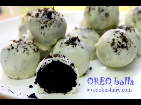 No Bake White Chocolate Oreo Balls - 3 Ingredients
