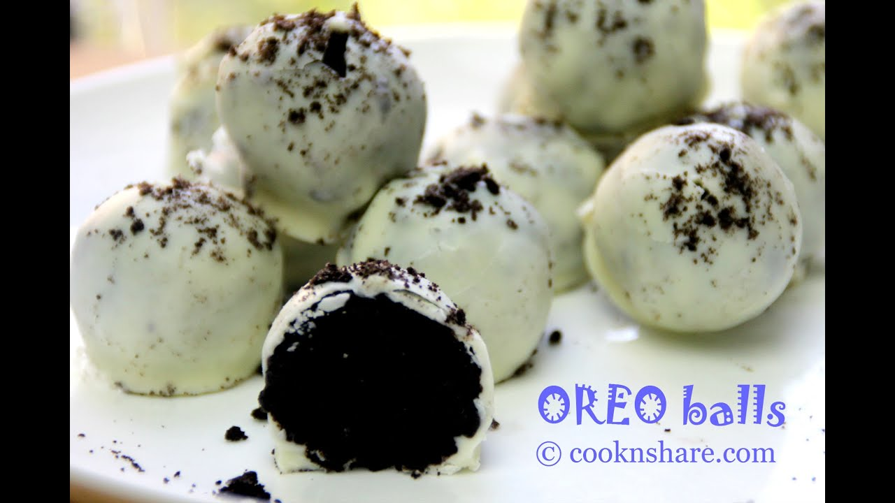 No Bake White Chocolate Oreo Balls - 3 Ingredients - YouTube