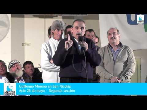Acto de Guillermo Moreno en San Nicolás de los Arroyos