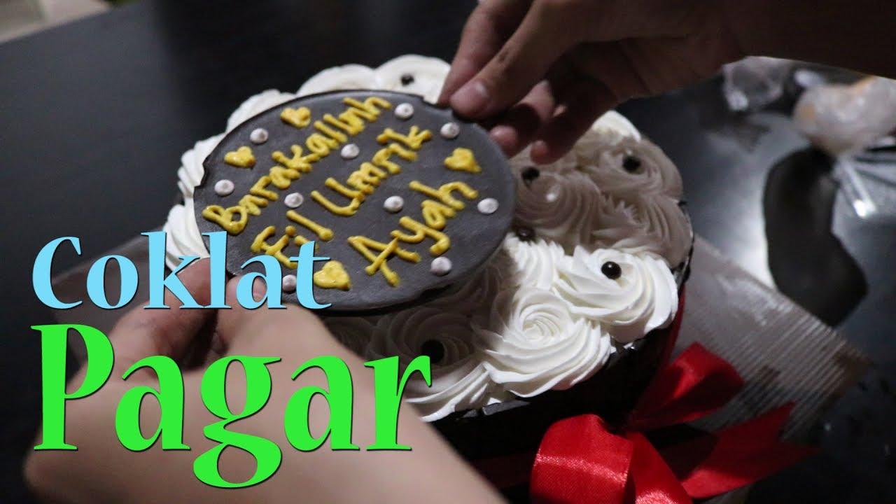 Cara Membuat Atau Menghias Kue Ulang Tahun Menggunakan Coklat Pagar Youtube