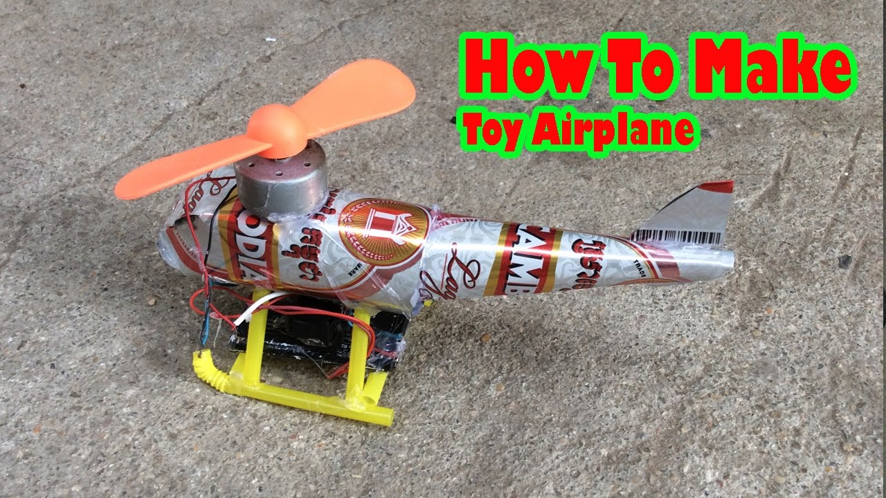 How To Make Electric helicopter use Cans and DC Motor