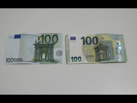Neuer 100 Euro Schein Vs Alter 100 Euro Schein Youtube