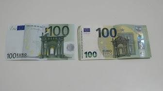 Neuer 100 Euro Schein vs Alter 100 Euro Schein