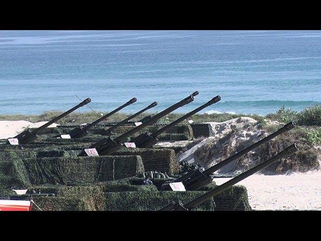 Pháo binh Hải quân Việt Nam tập bắn đạn thật quy mô lớn