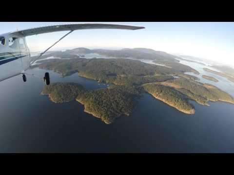 Flying from Everett, Paine Field KPAE to the San Juan Islands, Washington