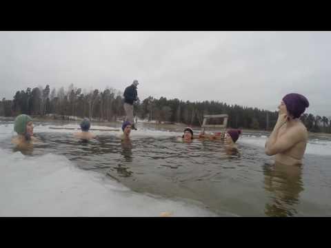 Brīvdienu pelde #7 19.02.2017 Weekend Winter Swim Cold in Riga