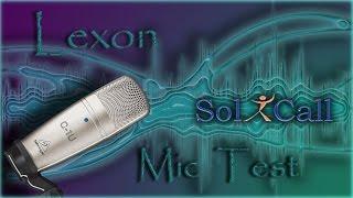 Test zvuku mikrofonu Behringer C-1U a programu SoliCall Pro