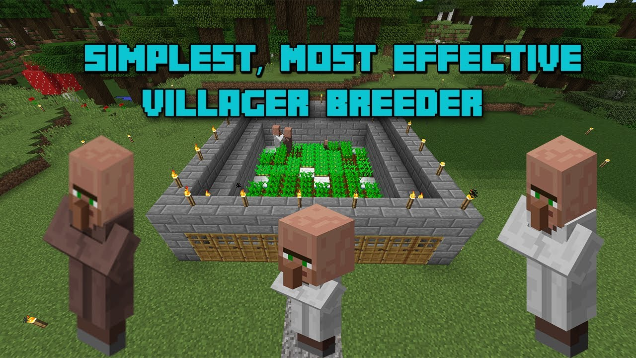 Tutorial Most Simple And Effective Villager Breeder In Minecraft 1 12 Youtube