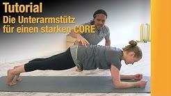 Unterarmstütz für einen starken CORE – Plank-Tutorial für's Sixpack