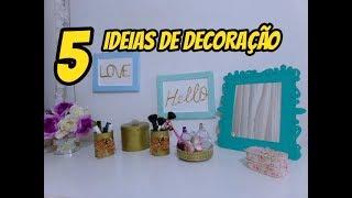 5 Ideias de decoração usando materiais recicláveis. Do lixo ao LUXO.
