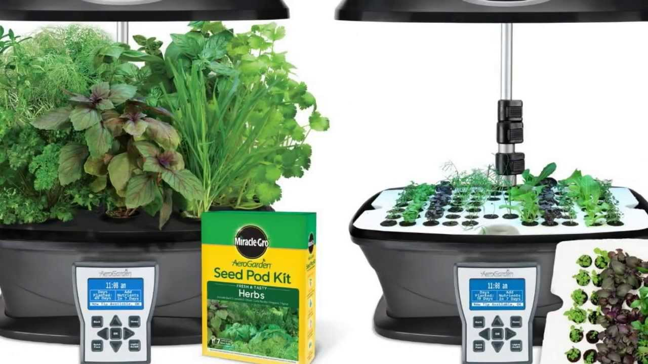 indoor herb garden kit miracle gro aerogarden ultra indoor garden with gourmet 28782