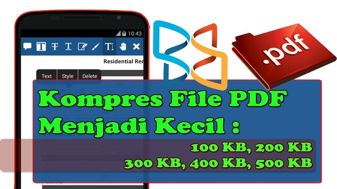 Cara Mengecilkan File Pdf Menjadi 200kb Di Android Youtube