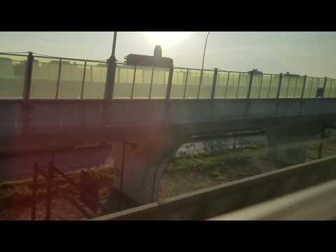 2018年9月18日(火) 関西国際空港連絡橋損傷部位(電車内から撮影)