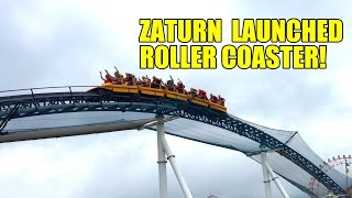 Zaturn Launched Roller Coaster 60FPS POV Space World Japan Intamin