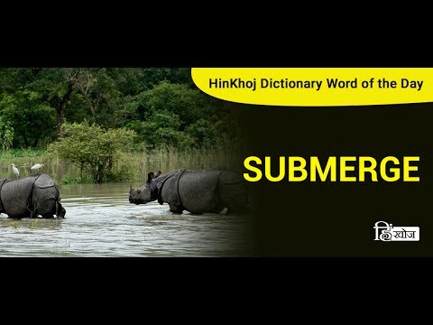 Meaning of Submerge in Hindi - HinKhoj Dictionary