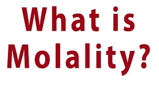 how to calculate molality from density and molarity