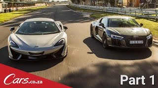 Part 1 - Audi R8 vs McLaren 570S Intro + Drag Race