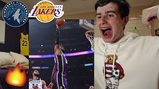 LAKERS GOING ON 20 GAME WIN STREAK!! LAKERS VS TIMBERWOLVES HYPE REACTION!