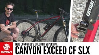 Neil Donoghue's Canyon Exceed For The Dolomiti Super Bike | GMBN Pro Bikes
