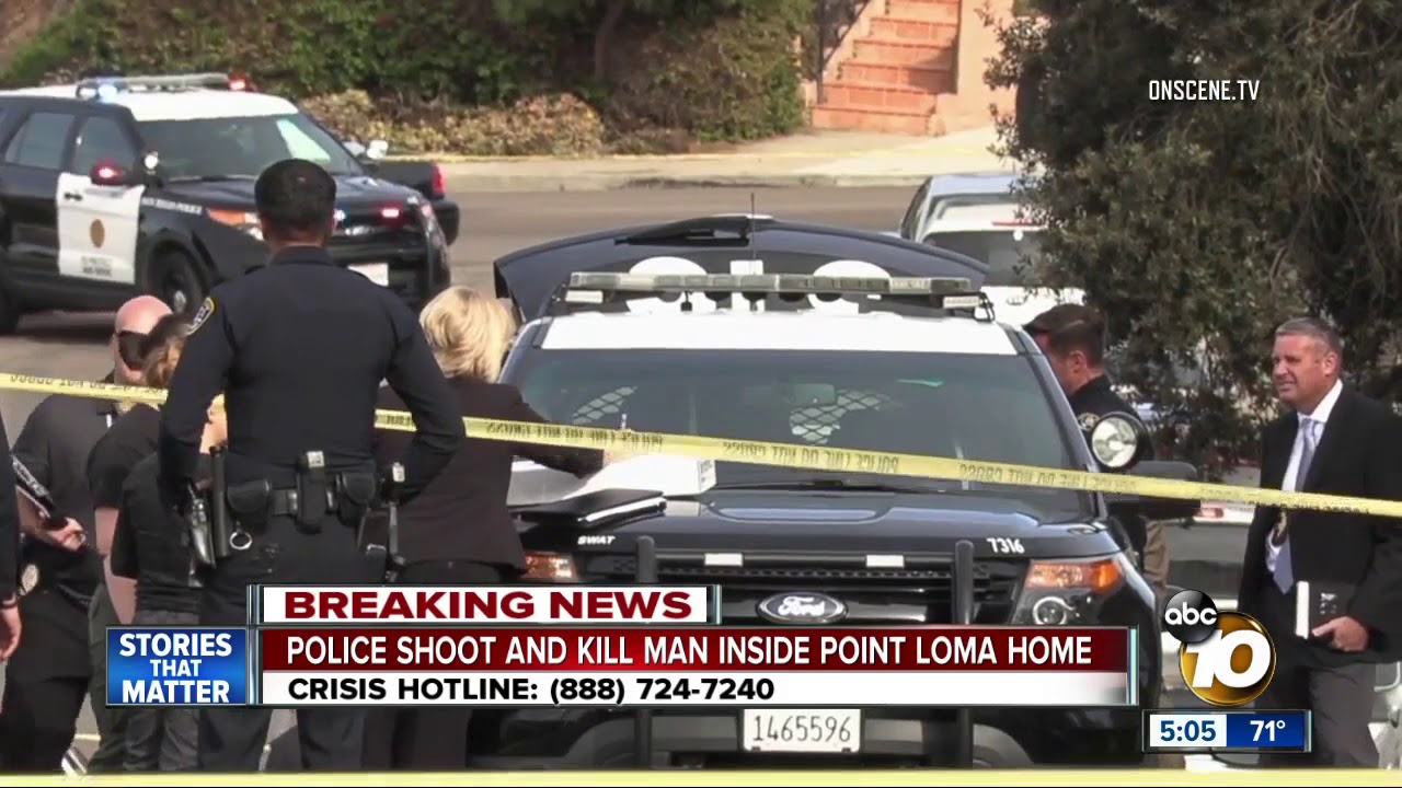 San Diego police shoot man in Point Loma home