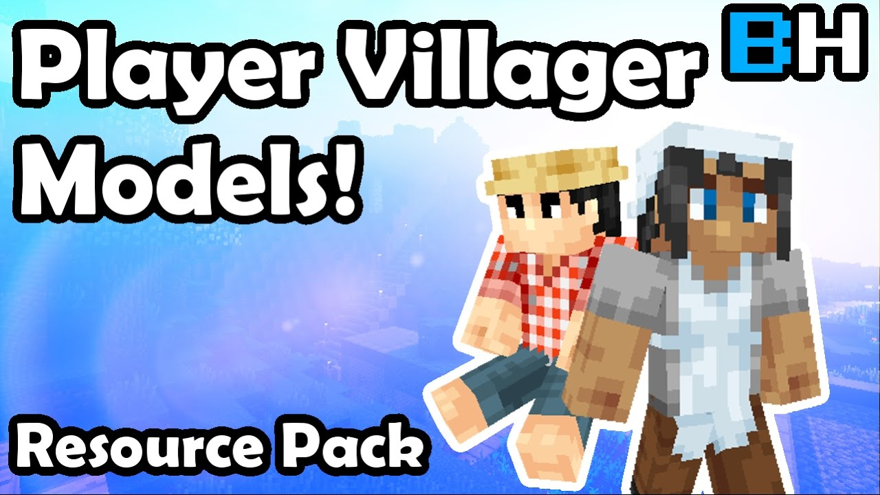 Custom Villager Models With A Resource Pack YouTube - Minecraft texture pack item namen andern